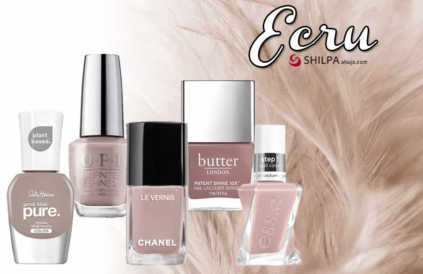 trending nail polish colors fall winter 2021-ecru