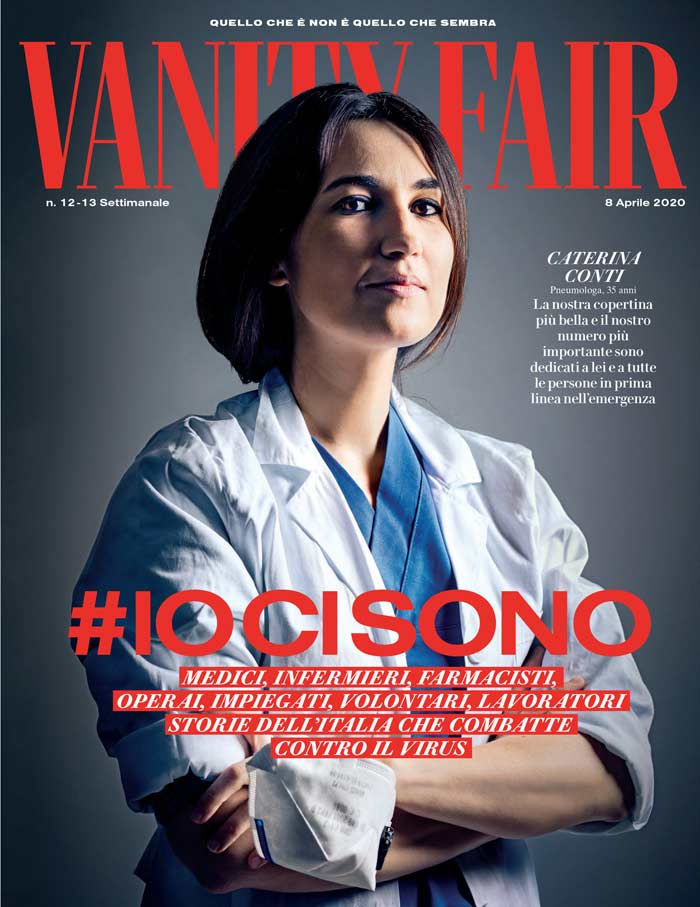 April 2020 issue, Vanity Fair, fashion magazine featuring a frontline worker