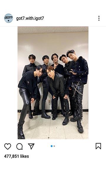 k-pop boy band GOT7 all-black outfits