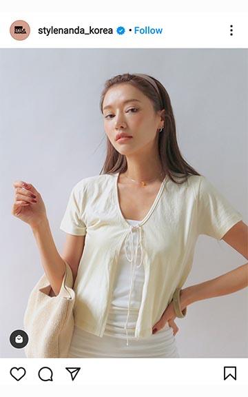 Korean style nanda brand instagram