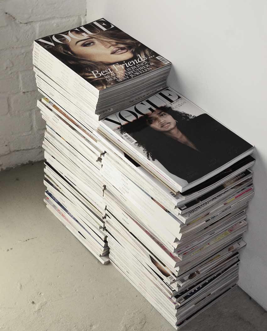 fashion magazines in the digital era pile up