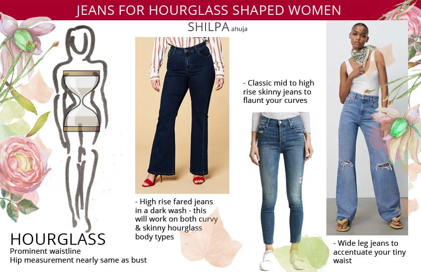 best jeans for hourglass shaped women. Best jeans for your body type.