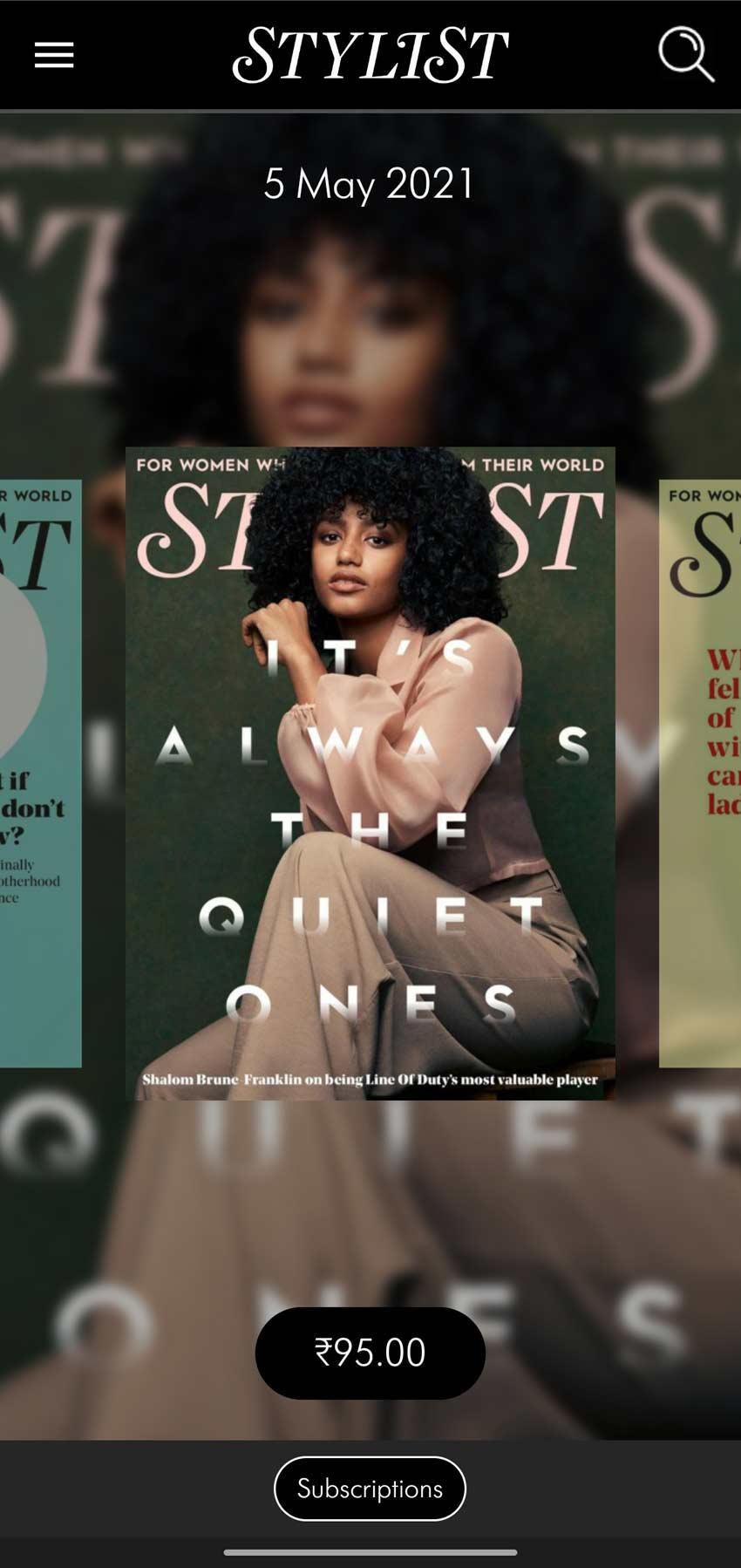 Stylist, fashion magazine, digital app