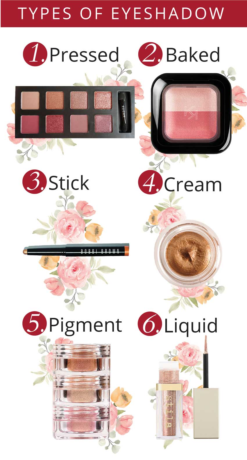 different types of eyeshadow