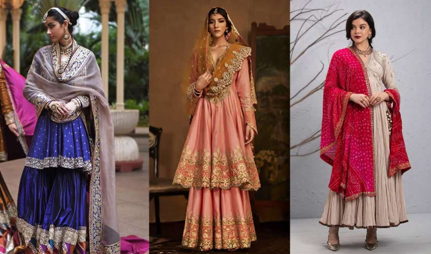 latest-indian-suit-trend-non-matching-dupatta-Manish-Malhotra-Rimple-and...