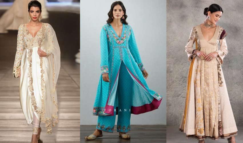 latest-indian-suit-trend-plunging-v-necklines-Shyamal-and-Bhumika-Torani...