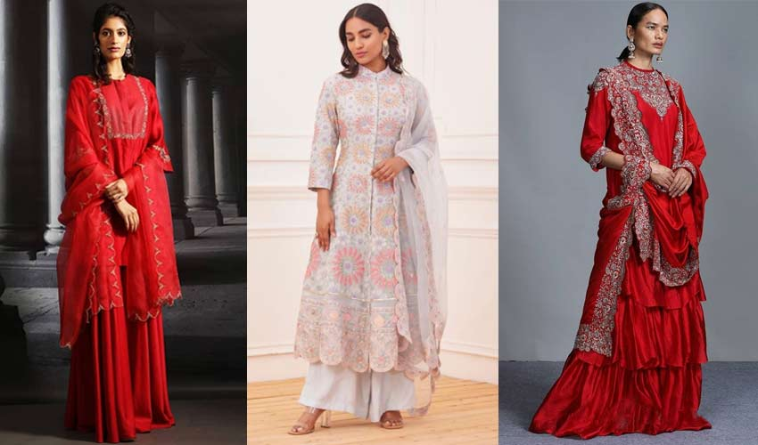 latest-indian-suit-trend-scalloped-dupatta-Anju-Modi-Rahul-Mishra-Jayant...