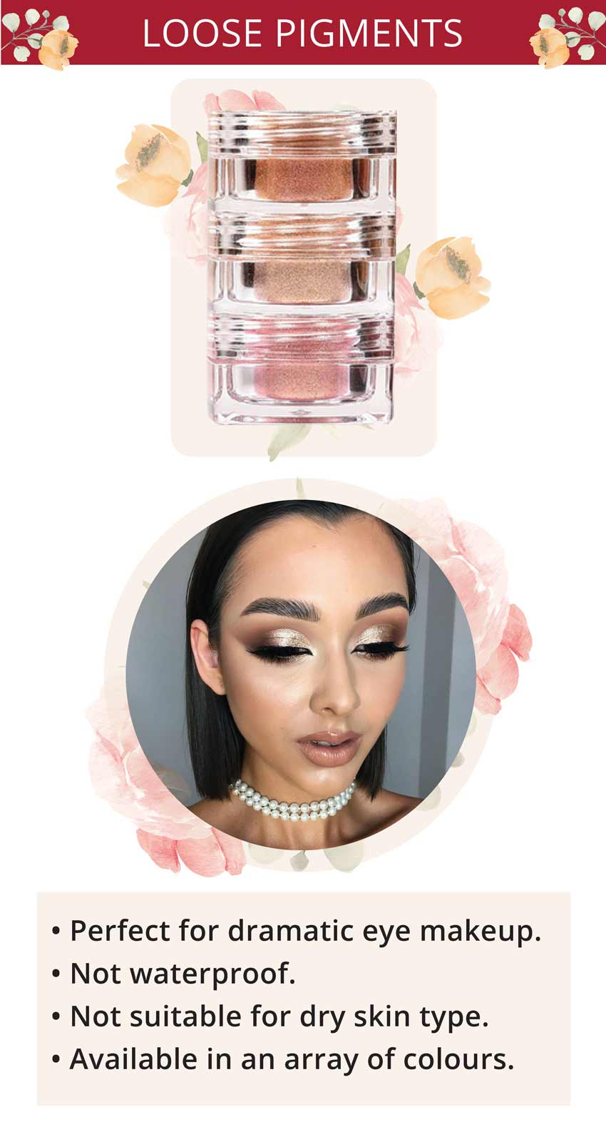 pac pigment tower loose pigment eyeshadow makeup look inspiration