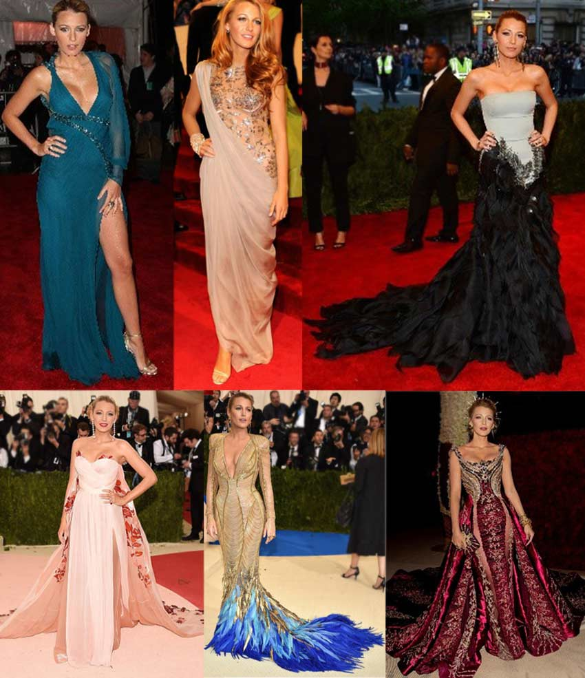 Blake Lively at the Met Gala- famous outfits