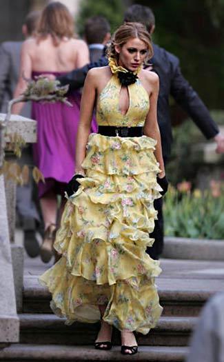 Gossip Girl Serena's outfit- yellow ruffled dress
