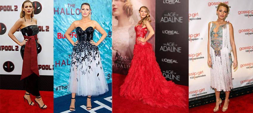 Blake Lively' Fashion evolution in dazzling outfits at movie premieres