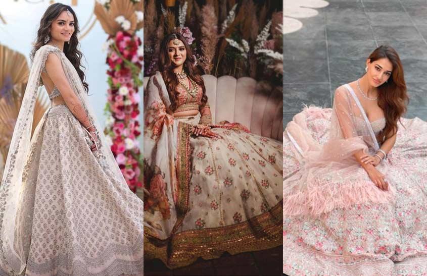 Lightweight-Flowy-Attire-indian-bridal-fashion-trends-anushree-reddy-sabyasachi-falguni-shane-peacock