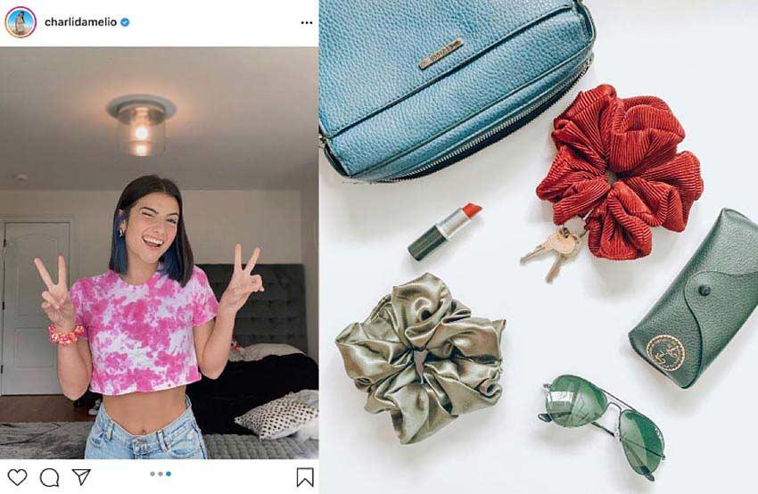 VSCO-scrunchies-steel-straws-Charlie-DAmelio-Instagram